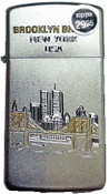 Brooklyn Bridge NYC Slim Satin Chrome Zippo