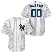 NY Yankees Replica Personalized Youth Home Jersey