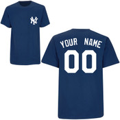 NY Yankees Personalized Navy Adult T-Shirt