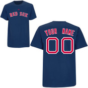 Boston Red Sox Personalized Navy Adult T-Shirt