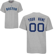 Boston Red Sox Personalized Grey Adult T-Shirt