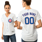 Chicago Cubs Replica Personalized Ladies Home Jersey