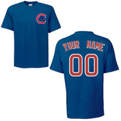 Chicago Cubs Personalized Royal Blue Adult T-Shirt