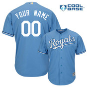 Kansas City Royals Replica Personalized Lt Blue Alt Jersey