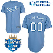 Kansas City Royals Replica Personalized Youth Lt Blue Alt Jersey