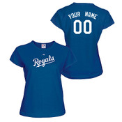 Kansas City Royals Personalized Ladies Royal Blue T-Shirt