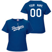LA Dodgers Personalized Ladies Royal Blue T-Shirt