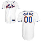 NY Mets Replica Personalized White Alt Youth Jersey