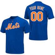 NY Mets Personalized Royal Blue Adult T-Shirt