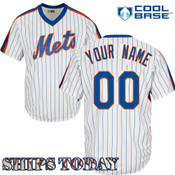 NY Mets Cooperstown Personalized Pinstripe Jersey