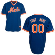 NY Mets Cooperstown Personalized Royal Blue Jersey