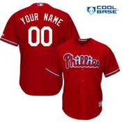 Philadelphia Phillies Replica Personalized Red Alt Jersey