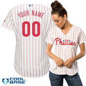 Philadelphia Phillies Replica Personalized Ladies Home Jersey