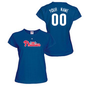 Philadelphia Phillies Personalized Ladies Navy T-Shirt