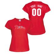 Philadelphia Phillies Personalized Ladies Red T-Shirt