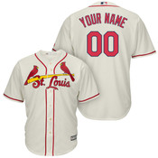 St Louis Cardinals Personalized Replica Ivory Alt Jersey