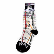 Subway Map Socks