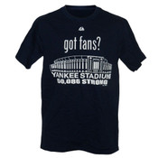 "Yankee Stadium ""Got Fans?"" Navy Mens T-Shirt"