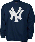 "Yankees ""Primary Logo"" Crewneck Navy Sweatshirt"