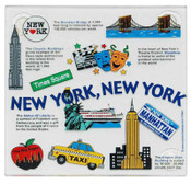 NYC Collage Glass Coasters