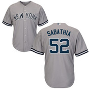 C.C. Sabathia NY Yankees Replica Youth Road Jersey