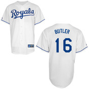 Kansas City Royals Adult Replica Billy Butler Home Jersey