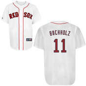 Boston Red Sox Adult Replica Clay Buchholz Home Jersey