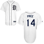 David Price Detroit Tigers Replica Adult Home Jersey