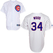 Chicago Cubs Youth Replica Kerry Wood Home Jersey