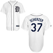 Detroit Tigers Youth Replica Max Scherzer Home Jersey