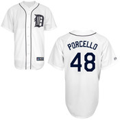 Detroit Tigers Youth Replica Rick Porcello Home Jersey