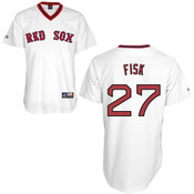 Carlton Fisk Jersey - Boston Red Sox Cooperstown Throwback Jersey