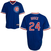 Lou Brock Jersey - Chicago Cubs Cooperstown Throwback Jersey