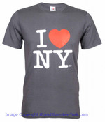 I Love NY T-Shirt in Charcoal