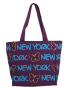 Robin-Ruth NY Purple Smal Butterfly Tote Bag