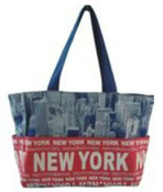 Robin-Ruth NY Blue-Red City Photo Bag