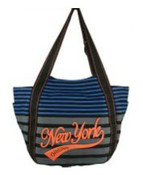 Robin-Ruth NY Brown-Blue Small Stripe Bag