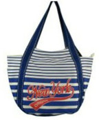 Robin-Ruth NY Blue-White Small Stripe Bag