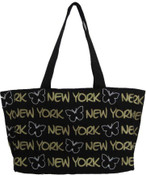Robin-Ruth NY Black Butterfly Tote Bag