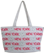 Robin-Ruth NY White-Pink Butterfly Tote Bag