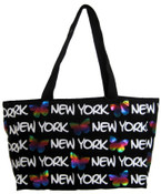 Robin-Ruth NY Black-Foil Butterfly Tote Bag