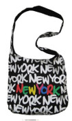 Robin-Ruth NY Black-White-Rainbow Neon Sling Bag