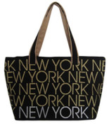 Robin-Ruth NY Black Canvas Bag
