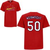 Adam Wainwright T-Shirt - Red St.Louis Cardinals Adult T-Shirt