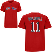 Clay Buchholz T-Shirt - Red Boston Red Sox Adult T-Shirt