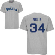 David Ortiz T-Shirt - Grey Boston Red Sox Adult T-Shirt