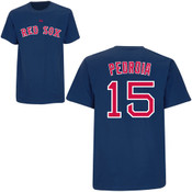 Dustin Pedroia T-Shirt - Navy Boston Red Sox Adult T-Shirt