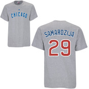 Jeff Samardzija T-Shirt - Grey Chicago Cubs Adult T-Shirt