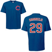 Jeff Samardzija T-Shirt - Navy Chicago Cubs Adult T-Shirt