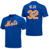 Jenrry Mejia T-Shirt - Royal Blue Ny Mets Adult T-Shirt